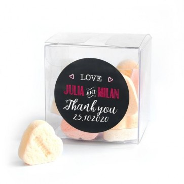 Chalk Candy Cube wedding favour