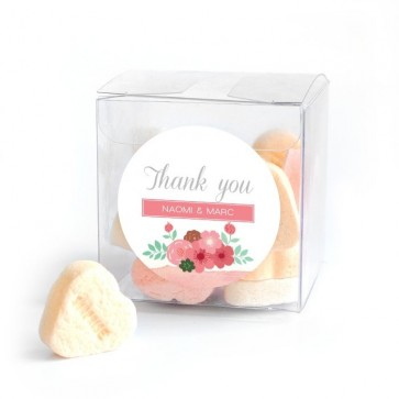 Pastel Flowers Candy Cube wedding favour