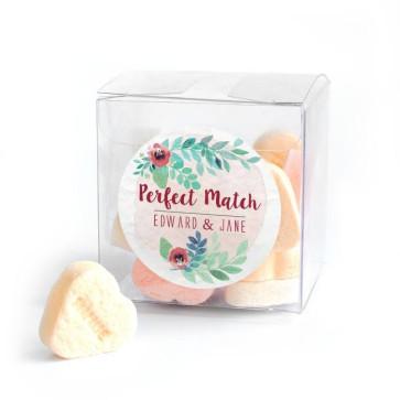 Rustic Garden Candy Cube wedding favour