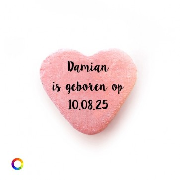 Text baby shower Candy Hearts