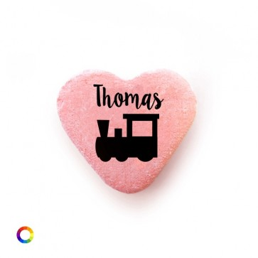 Train baby shower Candy Hearts