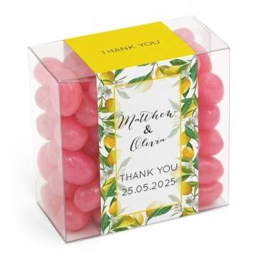 Green Leaf Candy Square wedding favour Box