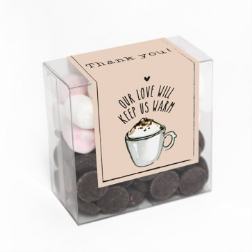 All you need Chocolate & Mallow Box wedding favour