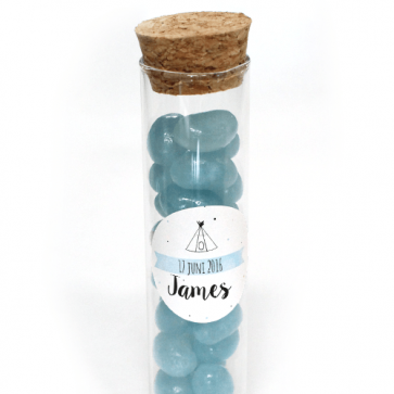 Indian Tipi Candy Tubes baby shower favour