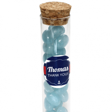 Sailor Candy Tubes baby shower favour