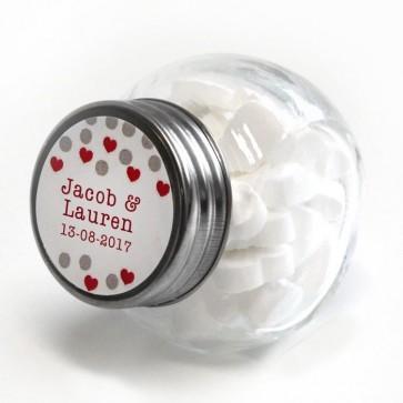 Confetti Candy Jar wedding favour
