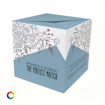 Flower Branch Out of the Box Wedding Invitation