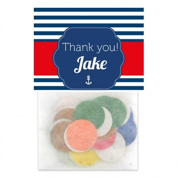 Sailor Baby Shower Flowerbag favours