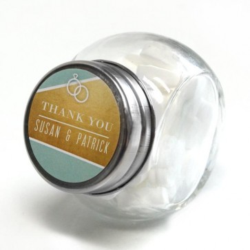 Gold Foil Candy Jar wedding favour