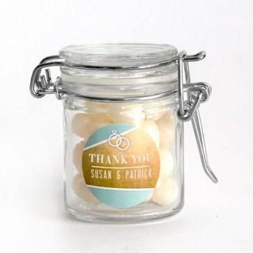 Gold Foil Weck Jar wedding favour