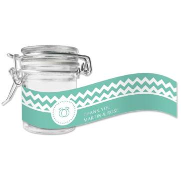 Pastel Chevron Green Weck Jar