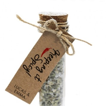 Keeping it Spicy Herbal GIft Tubes wedding favours
