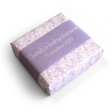 baby shower soap favour lavender