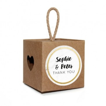 Flower Branch Light Box wedding favour