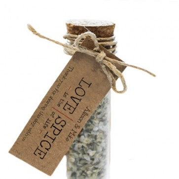 Love & Spice Herbal Gift Tubes wedding favours