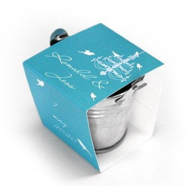 Chalk Green Mini Pail wedding favours