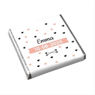 Peonies Fanfare Mini Chocolates design