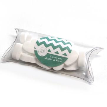 Pastel Chevron Mini Pillow Box wedding favours