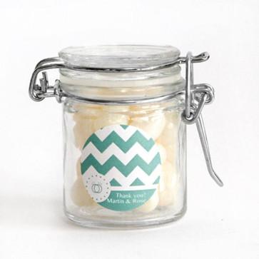 Pastel Chevron Weck Jar Wedding Favour