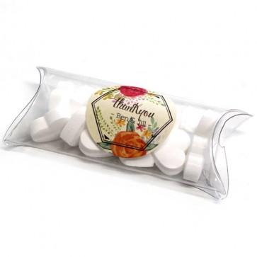 Peonies Fanfare Mini Pillow Box wedding favours