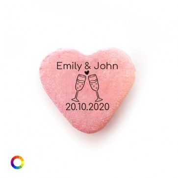 Champagne Personalised Candy Hearts