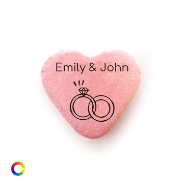 Rings Personalised Candy Hearts