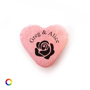 Rose Personalised Candy Hearts