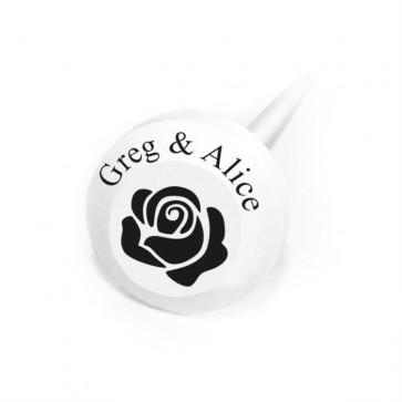 Rose Personalised Lollipops