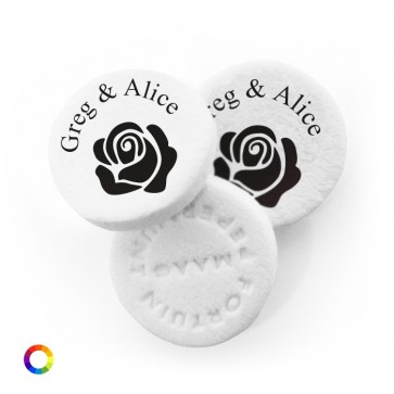 Rose personalised Wedding Mints