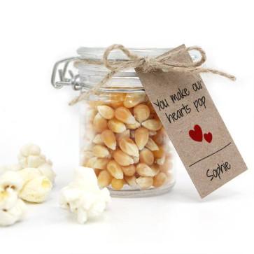 Popping Hearts Baby Shower Popcorn Weck Jar