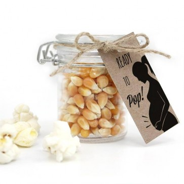 Popping Love Baby Shower Popcorn Weck Jar