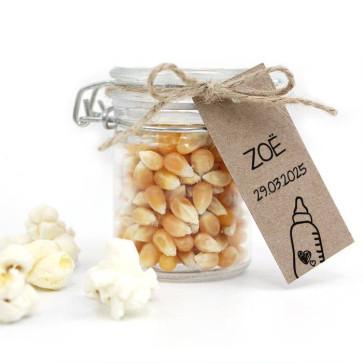 Sweet Bottle Baby Shower Popcorn Weck Jar