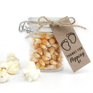 Tiny Toes Baby Shower Popcorn Weck Jar