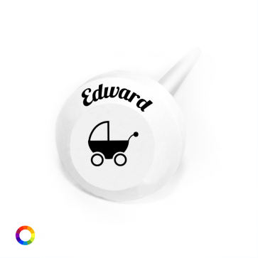 Pram personalised baby shower Lollipops