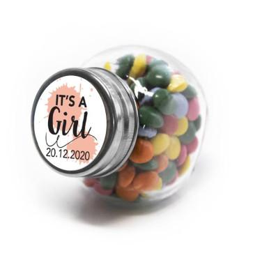 Splatter Girl Candy Jar Baby Shower favours