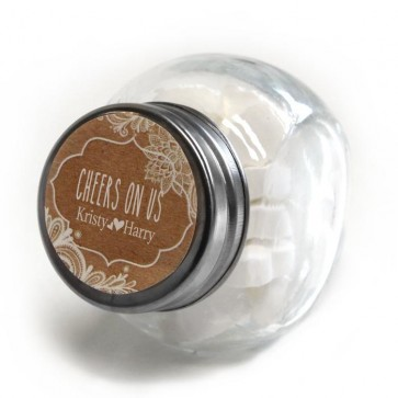Vintage Lace Candy Jar wedding favour