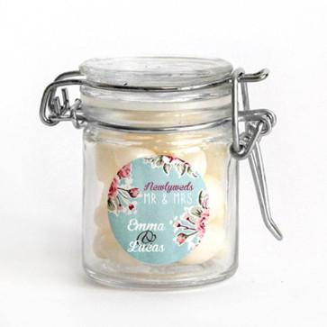 Vintage Rose Weck Jar wedding favours