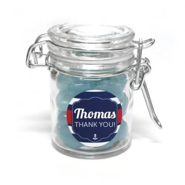 sailor weck jar baby shower favour