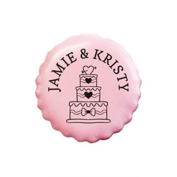 Wedding Cake personalised Cookies