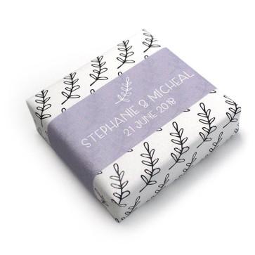 Wedding Favour Soap Lavender Pattern
