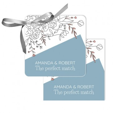 Flower Branch Wedding Tags wedding favours