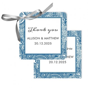 Paisley Wedding Tags wedding favours
