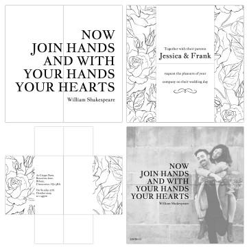 Love Quote Wedding invitation Turning Card