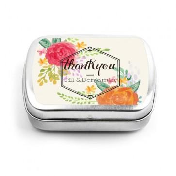 Peonies Fanfare Wedding Mint Tins