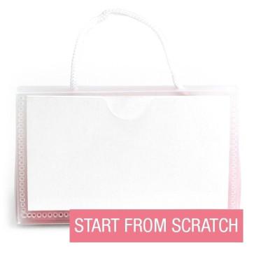 Dots designed wedding purses