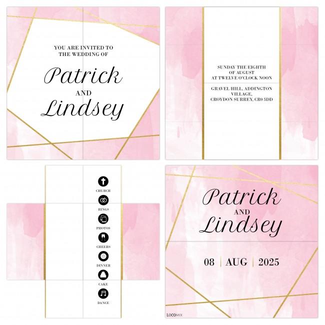 Lines Turning Card Invitation