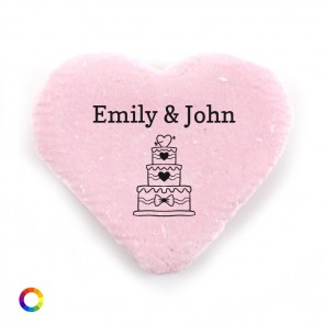 big candy hearts wedding favours little heart