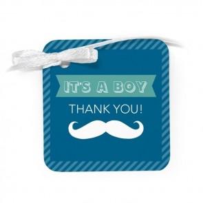 Moustache Baby Shower Favour Tags