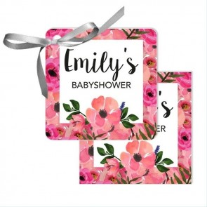Flowerbomb Baby Shower Favour Tags