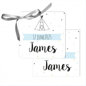 Indian Tipi  Baby Shower Favour Tags